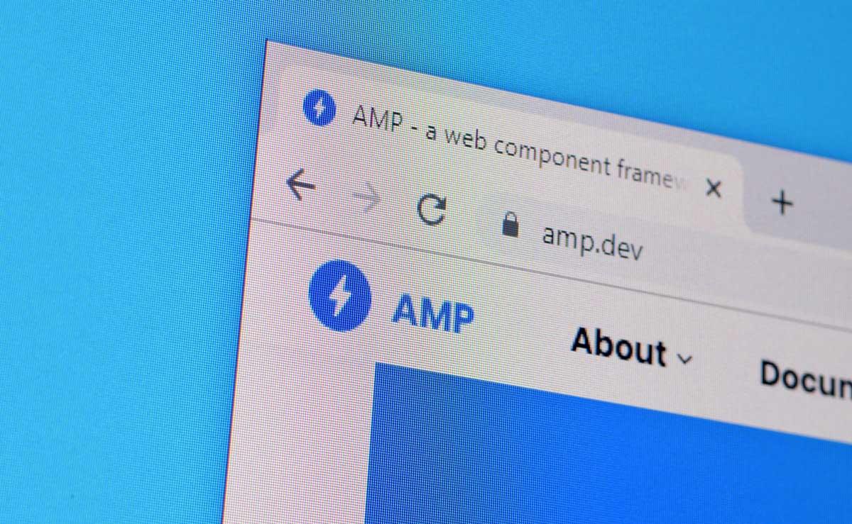 Webbsida med AMP. Bild från twenty20.com